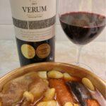 fabada y vino verum tempranillo