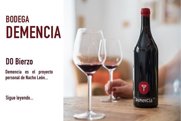 botella de vino Demencia distribuido por Bodegabierta
