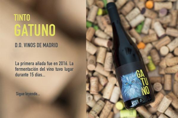 vino gatuno tinto elaborado por Bodegabierta en Madrid