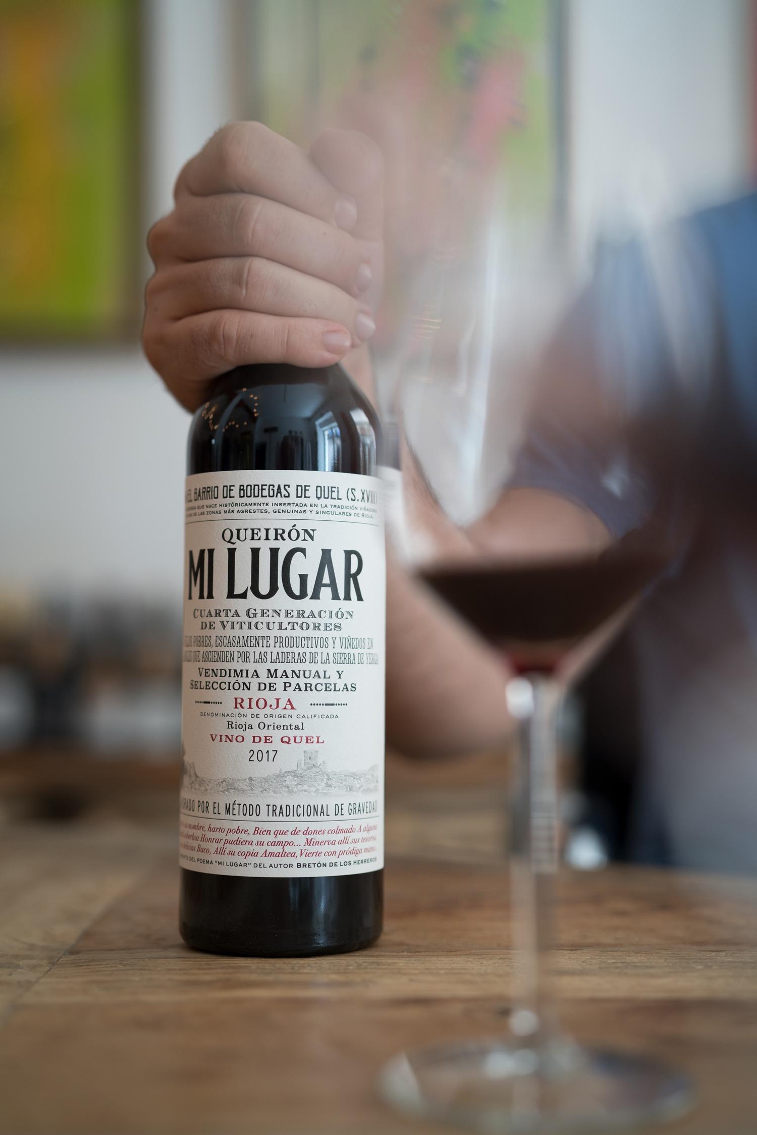 Botella de vino Mi Lugar de Rioja